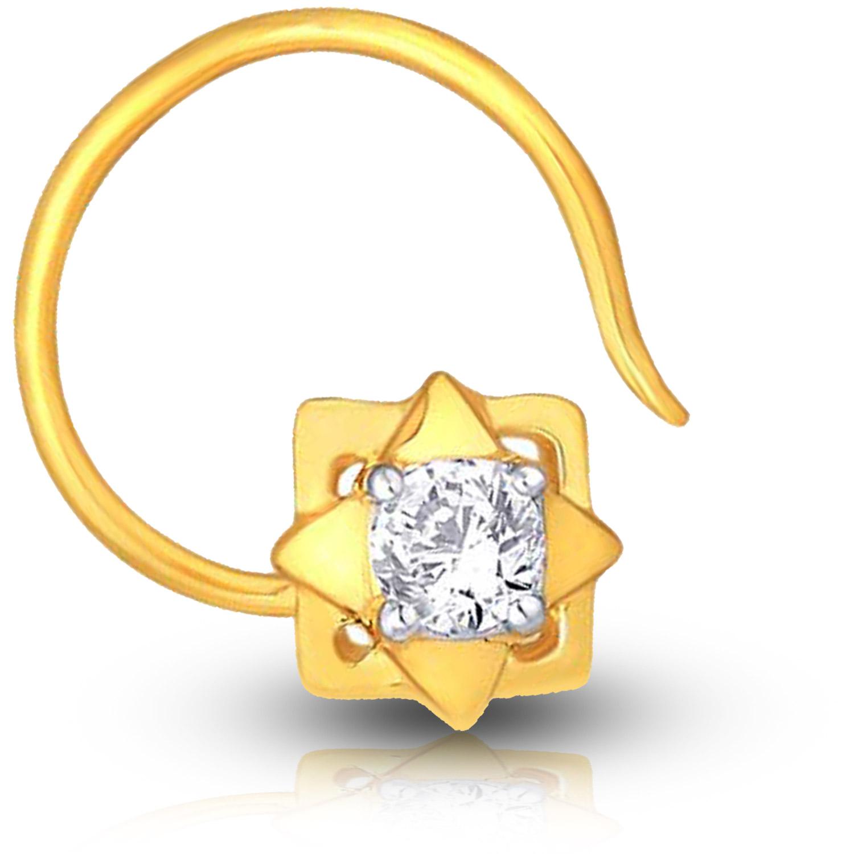 Gold-diamond-nose-pin