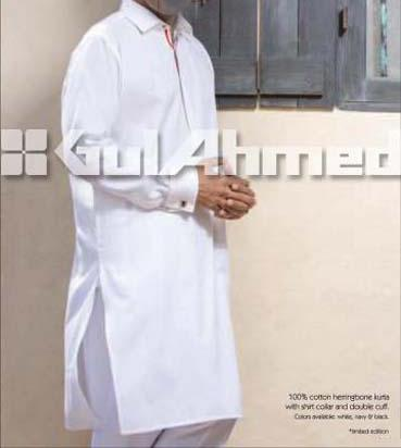 Gul-Ahmed-cotton Summer Kurta-Shalwar-kameez-Men's-Collection-2013