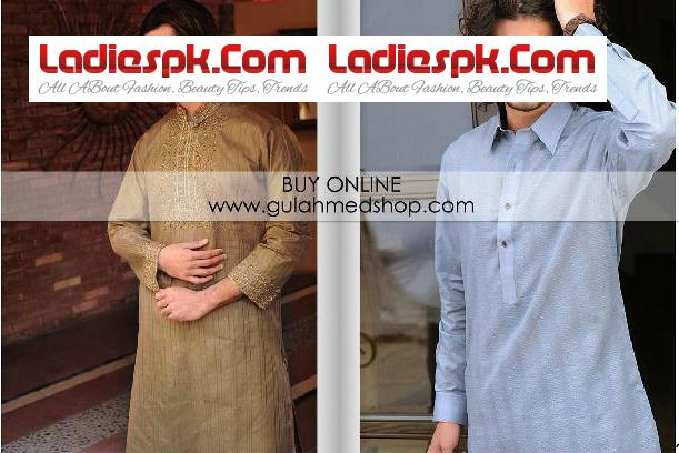 Gul Ahmed Kurta Designs for Men 2013 Cotton Shalwar Kameez for Boys