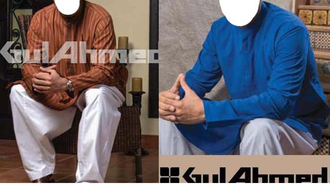 gul ahmed menswear-Kurta-Shalwar Collection