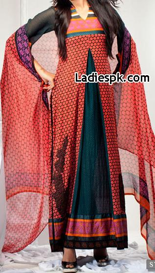 Latest New Fashion in Pakistan 2013 Dresses Design for Girls Women Frock Style