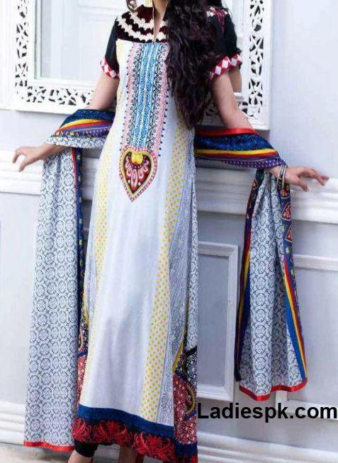 latest-summer-lawn-collection-by-maria-b 2013 Long Shirt Girls