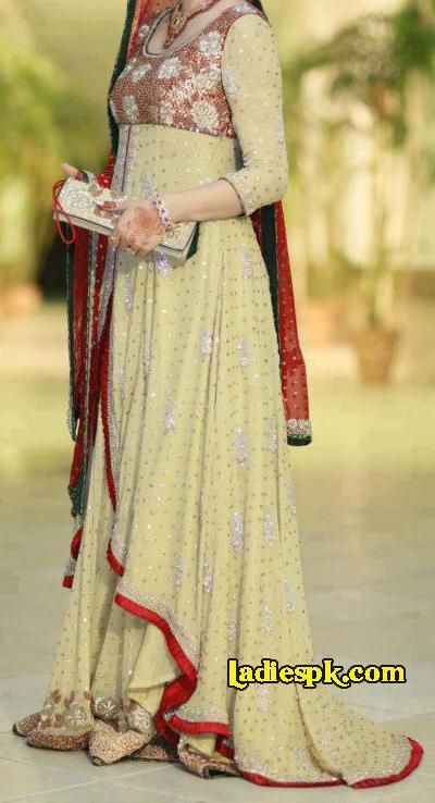 Beautiful Wedding Bridal-Engagement-Open-Shirt-Dresses-2013-Summer-Frock Fashion