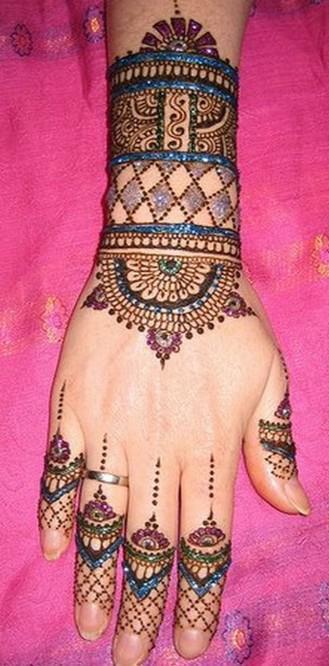 Bridal Hand Mehndi Designs Images 2013