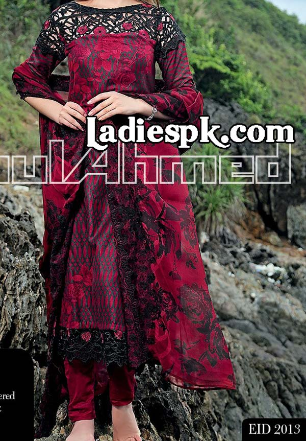 CHANTILLY-DE-CHIFFON-4800-Gul-Ahmed-Women-Eid-Collection-2013-with-Price
