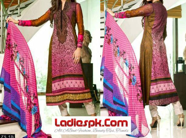 Eid ul Fitr Dresses Designs Collection 2013 Kalyan By Z.S Textile Women Girls