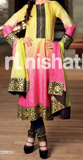 Fancy nishat-linen-eid-collection-2013-lawn-ruffle-chiffon for Women