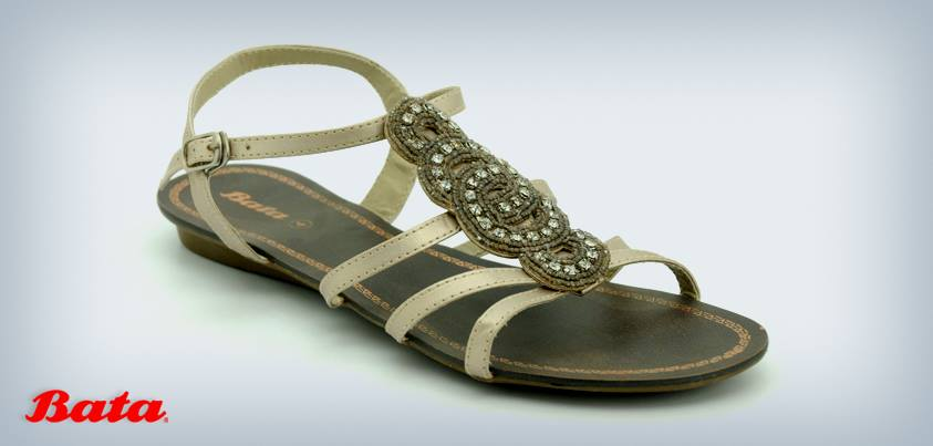flats womens sandals designs 2013 summer bata shoes for girls with price 599 BATA Shoes Eid Collection 2013 Womens Sandals with Prices