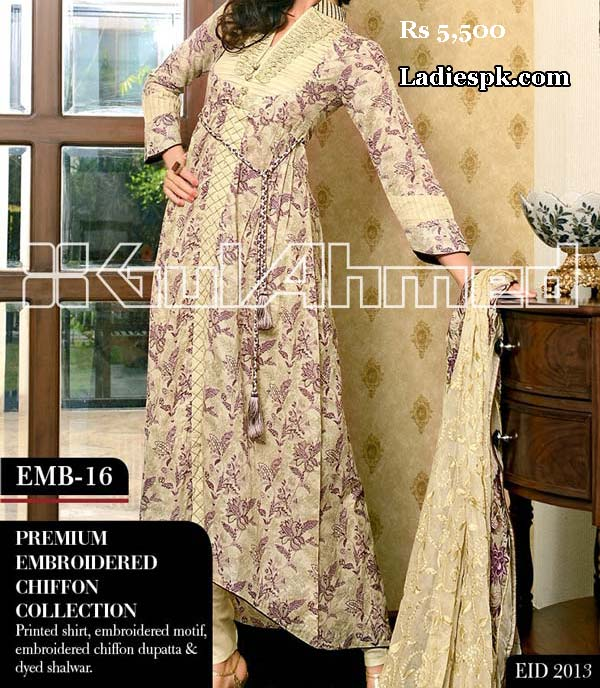 gul ahmed women eid collection 2013 with price 5500 00 Gul Ahmed Eid Collection 2013 With Price for Women, Girls