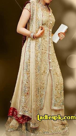 Pakistani Bridal Long Shirt Dresses 2013 Fashion, Indian Wedding Lehenga Frocks Design