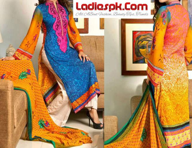 Pakistani-Eid-Wear-Summer-Dress-Design-2013-By-ZS-Fashion-Textile Women Girls