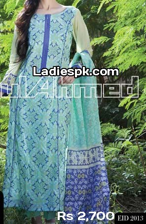 ramadan gul ahmed women eid collection 2013 with price normal lawn 2700 Gul Ahmed Eid ul Fitr 2013 Dresses Design for Women & Girls