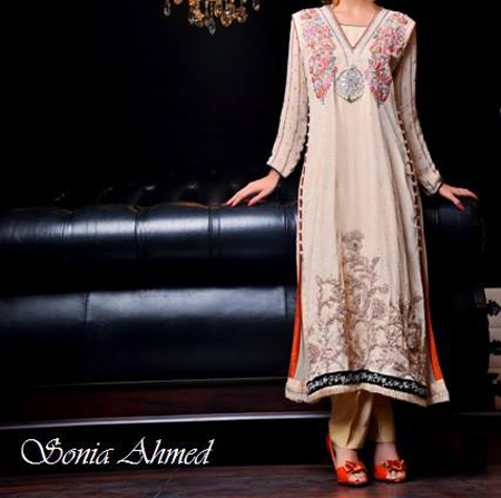 wedding dresses sonia ahmed collection summer 2013 for girls a line Top Fancy Wedding & Party Dresses 2013, Frocks for Girls
