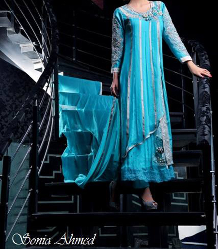wedding dresses sonia ahmed collection summer 2013 for girls open shirt Top Fancy Wedding & Party Dresses 2013, Frocks for Girls