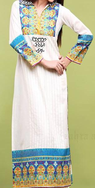 Zahra-Ahmed-Lawn-2013-Collared-straight-shirt