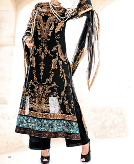 5 five star vogue eid collection 2013 for women black Five (5) Star Eid Collection 2013 for Women