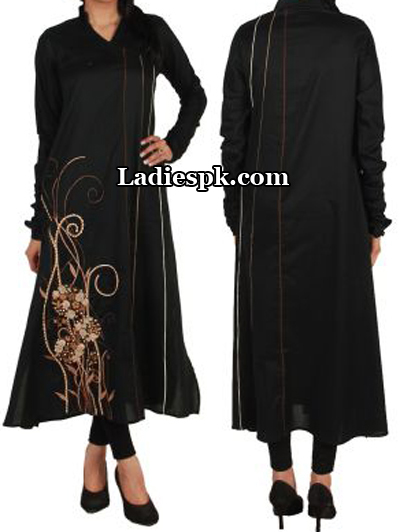 a-line-Black-Ego-Clothing-Pakistan-Kurta-Kurtis-Eid-Collection-2013-Style