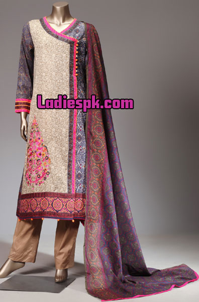 angrakha style shirt kameez design kurta fashion 2013 for girls women Angrakha Style Lawn Shirt Design, Kurta, Kameez Fashion 2013