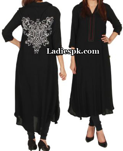 Black-Ego-Clothing-Pakistan-Kurta-Kurtis-Eid-Collection-2013-Choori-Pajama