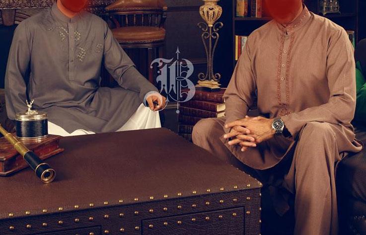 Bonanza Eid Collection 2013 for Men Kurta  neckline-embroidered-Shalwar-Kameez