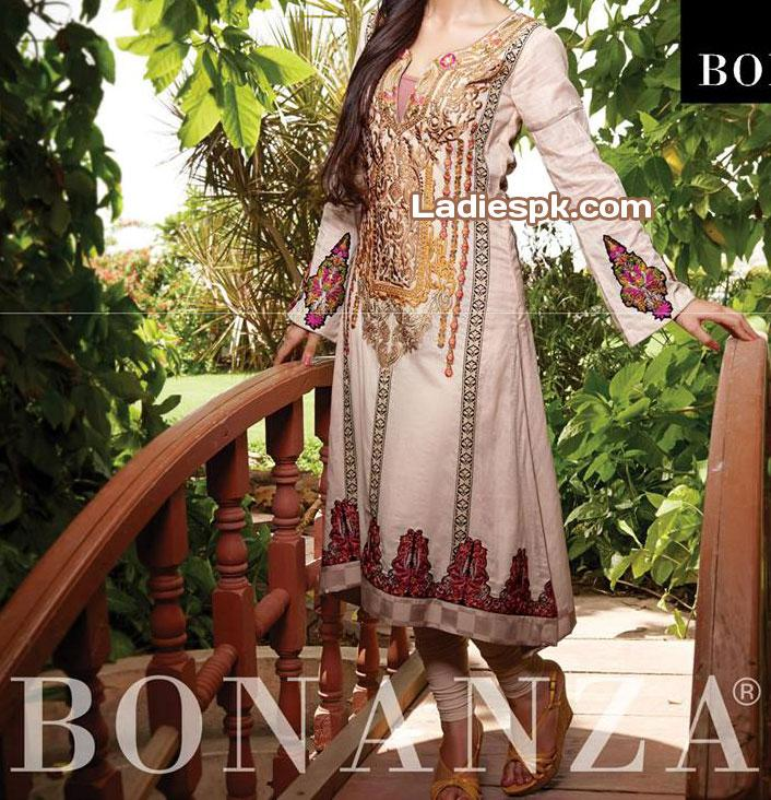 Bonanza-Lawn-Eid-Collection-2013-trendy-shalwar-trousers-Women-Yellow Chooridar Pajama Choori