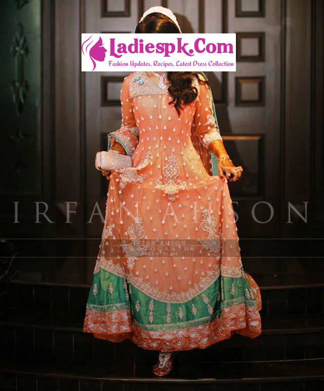 Bridal Wedding Frock Design 2013 in Pakistan and India