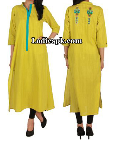 Ego-Clothing-Pakistan-Yellow-Kurta-Kurtis-Eid-Collection-2013