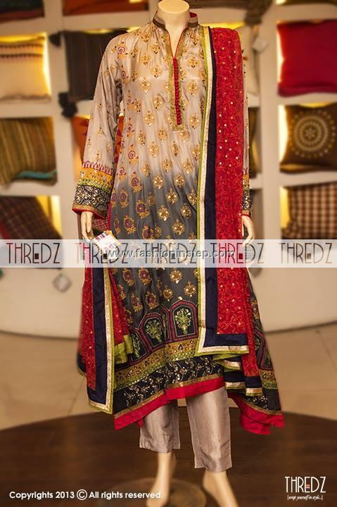 fancy boutique thredz eid dresses collection 2013 for women girls Thredz Boutique Wedding Dresses 2013 for Women & Girls