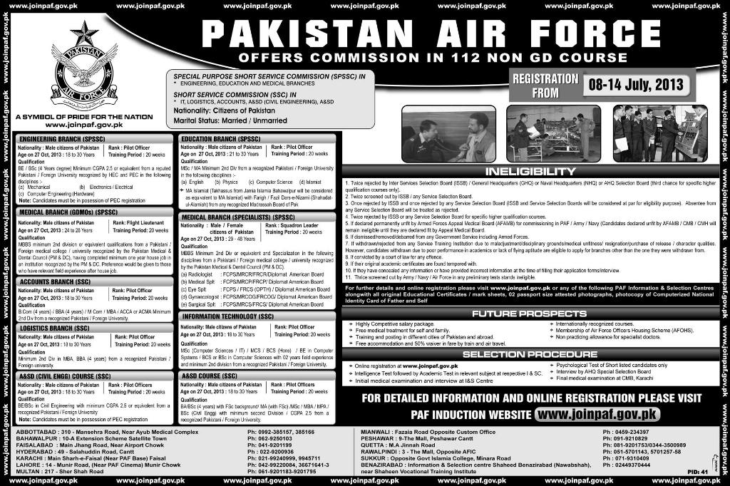 Jobs in PAF