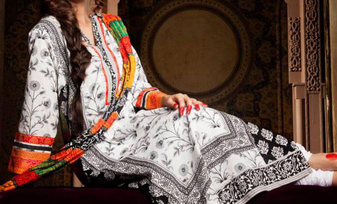 Khaadi-2013-Indian-Collection-Long-Shirt-With-Choori-Pajama-Tight-Churidar-Pyjama