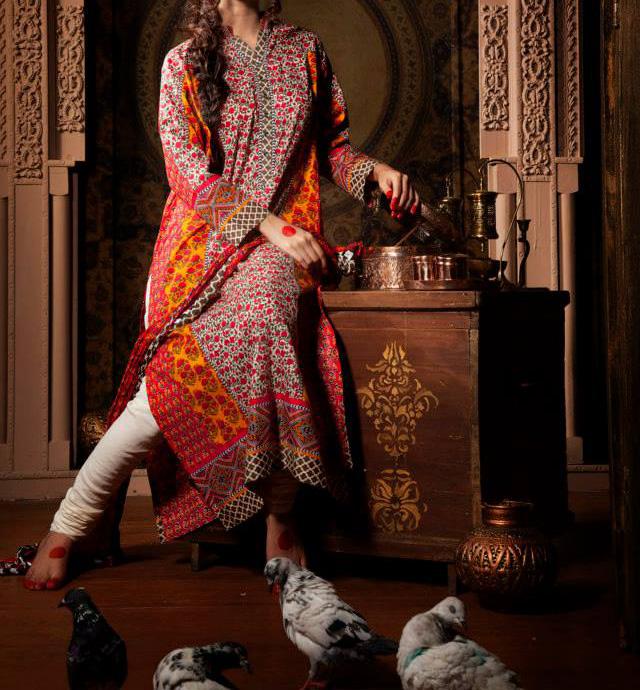Khaadi-Pret-Indian-Collection-Kameez-with-Tight-Pyjama 2013