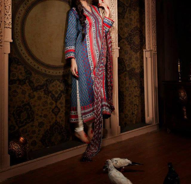 Khaadi-Pret-Indian-Collection-Long-Shirt-With-Choori-Pajama-Tight-Churidar-Pyjama 2013