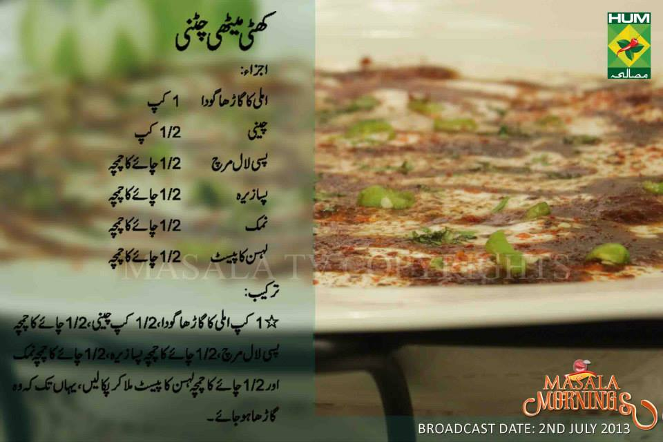 Ramzan Special Different Chutni Recipes In Urdu