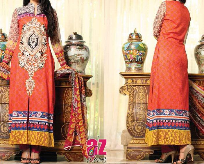 mahnoor exclusive eid collection 2013 for girls and women Mahnoor Lawn Eid Collection 2013 for Women   Al Zohaib