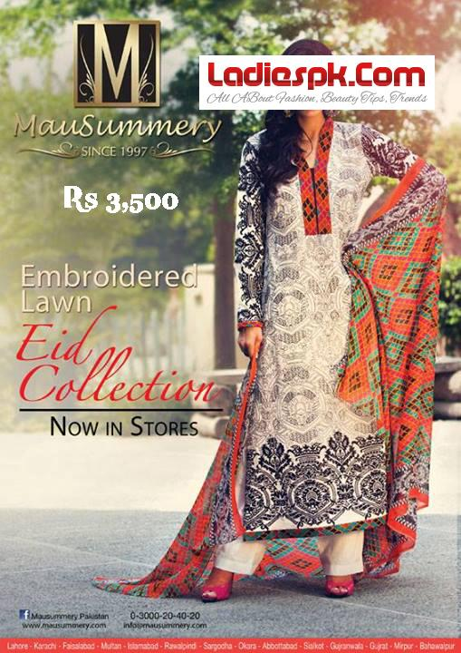 Mausummery-Embroidered-Lawn-Eid-COLLECTION--3500-2013-Price