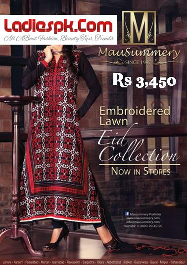 Mausummery-Embroidered-Lawn-EID-ul-Fitr-COLLECTION--3450-2013-Price