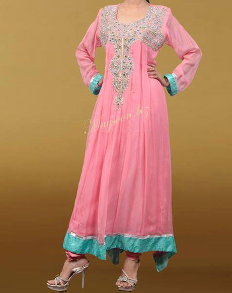 Maysoon-Eid-Collection-2013-Fancy-Dresses-for-Girls-Wedding-Party Pink Frock