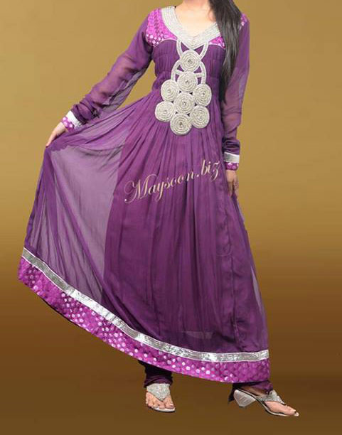 Maysoon-Eid-Collection-2013-for-Women Purple  Frock