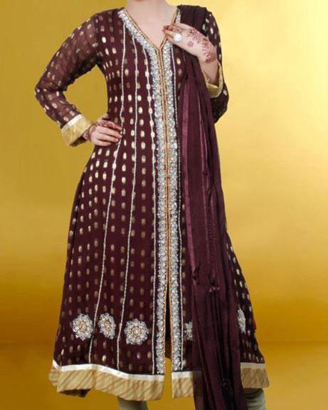 d2a658e0c8b6 Open Shirt Frock   Kameez Designs For Girls in Pakistan 2013
