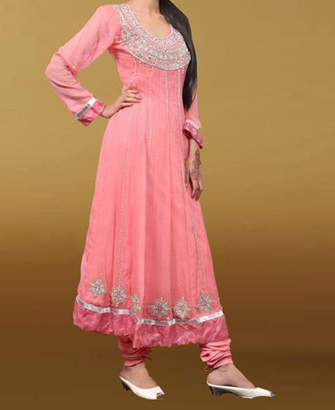maysoon eid collection 2013 pink fancy frock for girls wedding party Latest Eid & Wedding Fashion Frocks Designs for Girls 2013