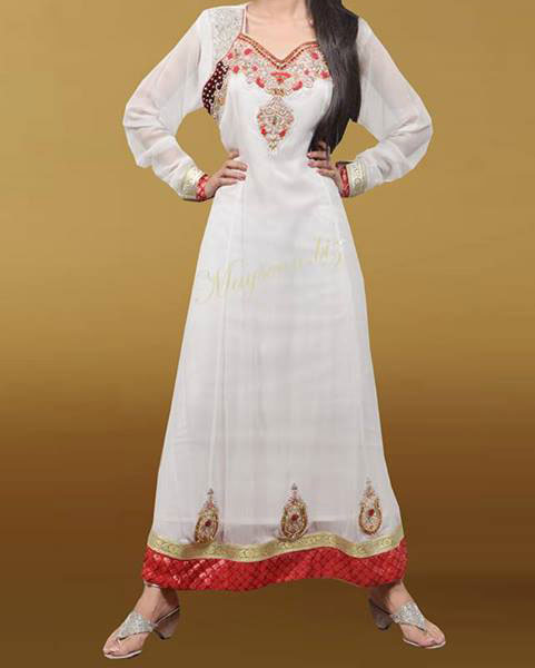 Maysoon-Eid-Collection-2013.-Wedding-Dress-for-Girls-Party White Frock