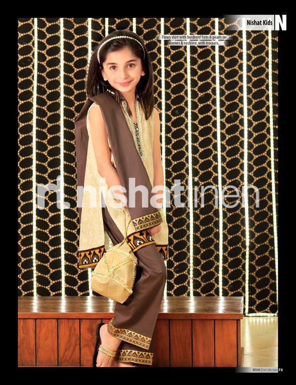 nishat linen eid collection 2013 for kids little girls 13 year Nishat Linen Eid Collection 2013 for Kids, Little Girls Dress