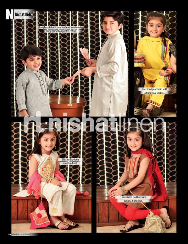 Nishat-Linen-Eid-Collection-2013-for-Kids-Little Girls boys