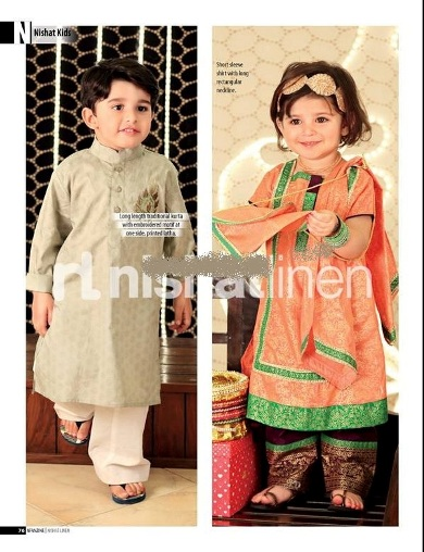 Nishat-Linen-Kids-Fancy-Eid-Collection-2013-for Girls And Boys