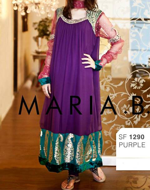 Party and Wedding Dress maria b eid collection 2013 for Women and Girls