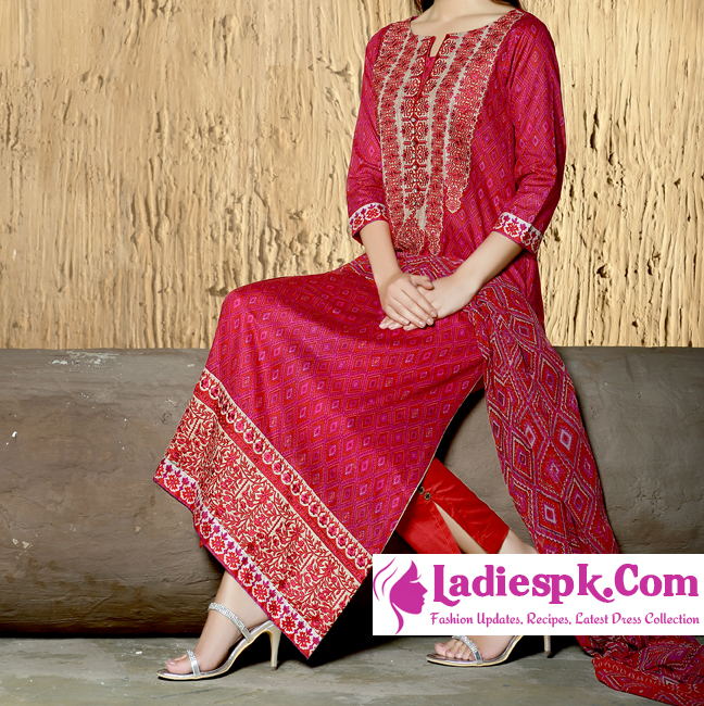 Red Khaadi Eid Dresses Collection 2013 Volume 2 for Women Shalwar Kameez