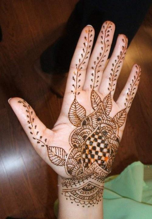 Simple Arabic Eid 2013 Mehndi Designs For Hands Pakistan