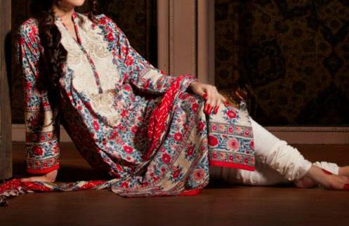 Women Khaadi-Indian-Collection-Long-Shirt-With-Choori-Pajama-Tight-Churidar-Pyjama