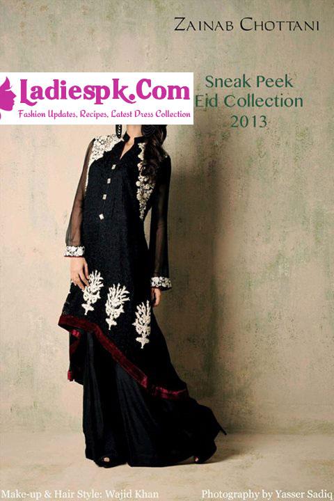 Zainab Chottani Eid Collection 2013 foe Women Tail Dresees