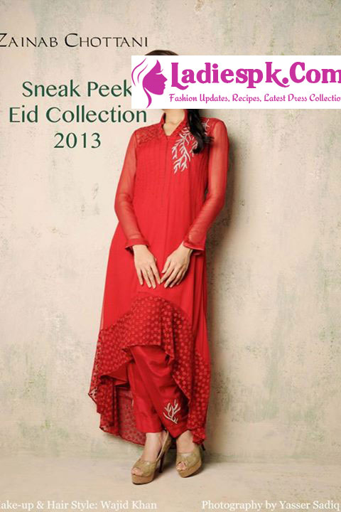 Zainab Chottani Eid Collection 2013 for Women Tail Gown